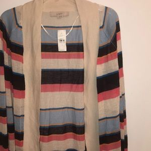 Lightweight striped multicolor cardigan